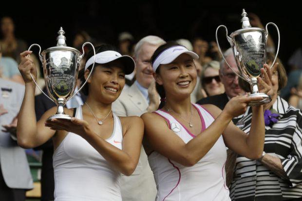 Chine Peng Shuai and Taiwan Hsieh Su-wei