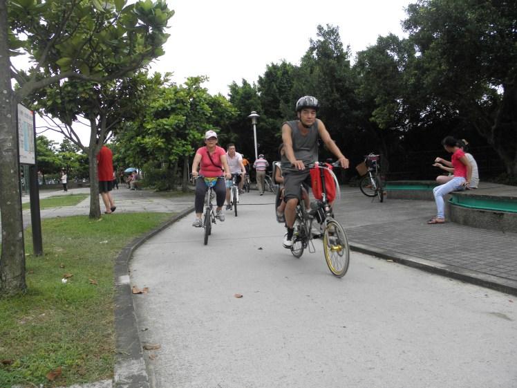 Imagen de una ciclovía en Taipéi. Foto: Gerson Gómez